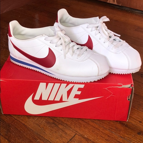 100% authentic 17928 7a6d7 MENS nike cortez red white blue size 9